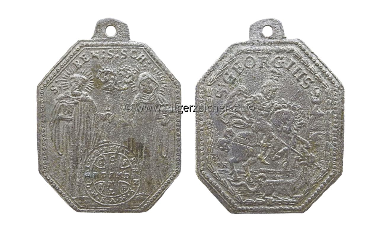Benedikt von Nursia / Scholastika von Nursia / Georg / Benediktussegen