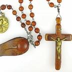 Rosenkranz / Antonius von Padua / Franz von Assisi / Lateinisches Kreuz